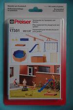 Preiser 17351 Set de estructuras dispositivos juegos para zona y Jardín HO NUEVO