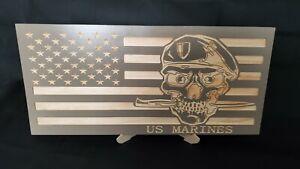 Marine Pine Wood flag Design