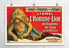Lionel Lion Boy Vintage Sideshow Poster Fine Art Giclee Print Canvas or Paper