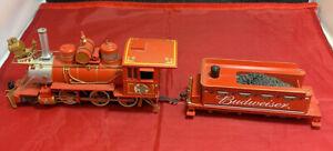 Vtg BUDWEISER BEER Model Train~Bradford Exchange~Hawthorne Village
