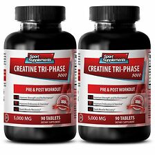 Muscle Growth - Creatine Tri-Phase 5000mg - Boost Lean Body Mass Tablets 2B