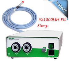 Portable Double Bulbs Halogen Light Source 2X250+Fiber Cable 4X1800mm Surgery CE