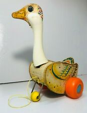 Vintage Fisher Price 164 Mother Goose 1964-1966 Pull Toy