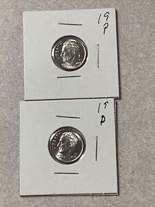 1961 Roosevelt Dime OBW Roll 50 Coins Total BU Unc