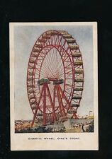 EXHIBITION Empire of India Earl's Court Gigantic Wheel Court size u/b PPC