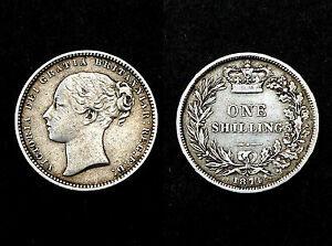 One Shilling 1874 Great-Britain. Argent/ Silver. Victoria