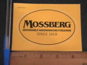 Mossberg Sticker Decal Genuine Factory Mossberg Vinyl Decal Sticker Mossberg