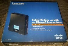 Linksys CM100 100Mbps Cable Modem with USB & Ethernet Connections