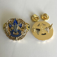 District Commissioner Scout Service Corps Badge, One Pair (2) (Scouter Boy Pin)