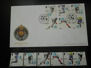 K146 STAMPS  UK WORLD CUP FOOTBALL GERMANY 2006  SET+FDC
