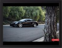 "MERCEDES CLS550 VOSSEN A3 FRAMED PHOTOGRAPHIC PRINT 15.7"" x 11.8"""