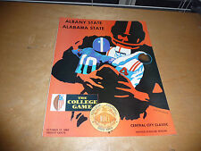1969 ALABAMA STATE AT ALBANY STATE (GA) COLLEGE FOOTBALL PROGRAM EX-MINT