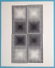 Victor VASARELY IX Offset Originale de 1973 Op Art Optique Cinétique 44ans