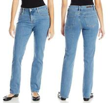 PETITE Women's LEE JEANS Blue Classic Fit Straight Leg STRETCH 340361D PEARL NWT
