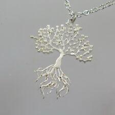 Reich verzierter Lebensbaum Anhänger 925 Silberanhänger Baum des Lebens 2,4 cm