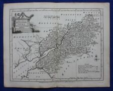 Original antique county map GLOUCESTERSHIRE, J.Ellis, c.1765