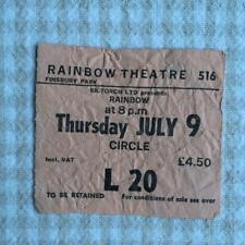 Rainbow Ritchie Blackmore  ticket Rainbow Theatre 09/07/81