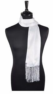 Mens Ladies Formal Scarf Silk Scarf Satin Dress Scarf Evening Scarf Dress Scarf