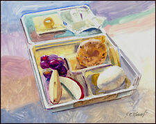 """Listed Artist - Acrylic on Board - 8x10 inches - """"Starbuck's Lunch"""" -"""