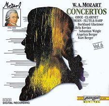 MOZART : CONCERTOS - OBOE, CLARINET, HORN, FLUTE & HARP / CD (LASERLIGHT 1990)