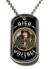 """AC/DC """" High Voltage """" Dog Tag Cadena 200696 #"""