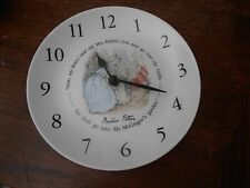 "VINTAGE Wedgwood Beatrix Potter Clock Made in England ""Works"""
