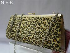 LEOPARD PRINT Black & Amber Spots HAND BAG CLUTCH PURSE Ideal Gift.