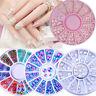 Multi-color Perle Crystal Nail Strass Nailart Tipps Dekoration Maniküre Rad