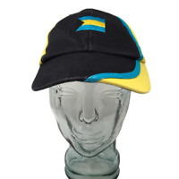 Bahamas Caribbean Baseball Cap Hat OSFM Strap Back Yellow Black Blue