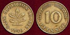 10 pfennig 1949F Bank Deutscher Lander GERMANY Deutschland Allemagne