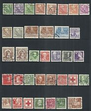 SWEDEN NICE 3.5 PAGE LOT OF VARIOUS USED ISSUES  1910 to 1967   CAT EST. $20+