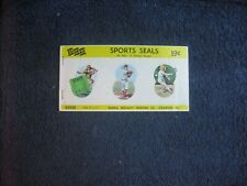 Vintage Sports Seals Complete Sports Booklet (36) Stickers Baseball, Football