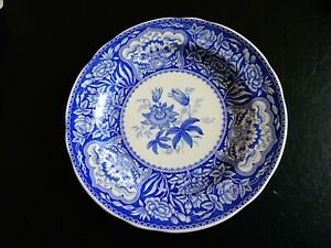 """The Spode Blue Room Collection Floral 10"""" 27 cm plate blue & white"""