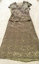 MONSOON SILK BLEND ORIENTAL STYLE LONG SKIRT AND TOP-SIZE 14/16