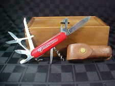 "Victorinox Swiss Knife - Marked ""Officier Suisse"" & Leather Sheath - Ausbatt"