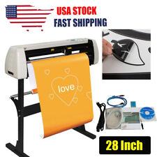 28 Vinyl Cutter Plotter Cutting Machine Sign Sticker Making Paper Feed Software