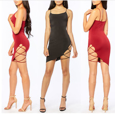 2018 Summer Women Sexy Strap Dress Fashion Sexy Backless Sleeveless Side Hollow