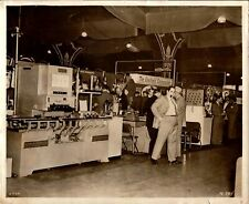 Vintage trade show photo 8x10 Sheffield Corporation Manufacturing Equipment