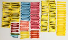 LOT 161 VINTAGE Goody SWING ARM PERM RODS HAIR CURLERS YELLOW PINK BLUE ORANGE