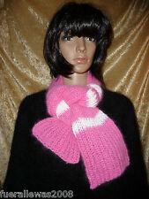 handgestrickt Schal weich kuschelig 70 % Angora Scarf hand knitted
