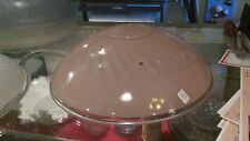 Vintage pink  frosted Cieling Light Glass Globe Shade Chic  beautiful Antique