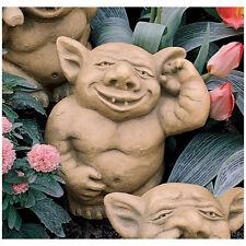 Gothic Troll Like Gargoyle Nasty Ear Picker Garden Statue