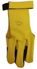 American Archery Deep Valley Shooting Glove Yellow Medium