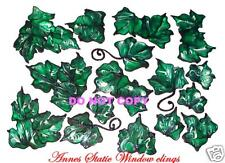IVY LEAF FOLIAGE WINDOW CLING FAUX STAINED GLASS  DECOR DOOR DECORATION MOTIF