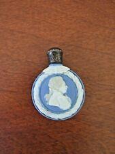 "Bliue Jasperware 2 1/4"" perfume bottle, Classical relief of George IV"