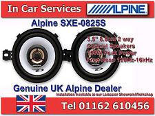 """Alpine SXE-0825S 3.5"""" (8.6cm) DIN ajuste personalizado 2-Way coaxial altavoces del coche 150W Par"""