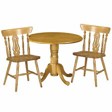 Honey Pine Finish Extending Extendable Dining Table and Chair Set with 2 Seats