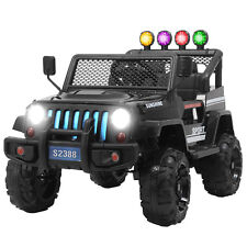 12V Kids Ride on Car Jeep Wrangler Toys Electric Battery w/ Remote Control Black