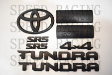 FOR 2014-2019 Toyota Tundra Matte Black Out Emblem Badges tailgate 8 Piece Kit