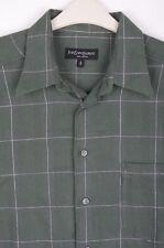 YSL, Yves Saint Laurent Men's Regular Check Cotton Casual Shirts & Tops